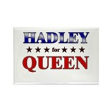 HADLEY for queen Rectangle Magnet