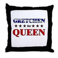 GRETCHEN for queen Throw Pillow
