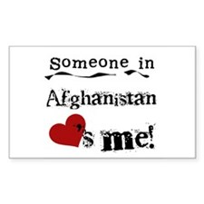 Afghanistan Loves Me Rectangle Decal
