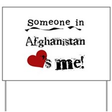 Afghanistan Loves Me Yard Sign