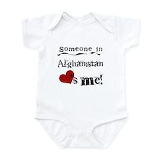 Afghanistan Loves Me Infant Bodysuit