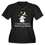 Some Bunny Special Women's Plus Size V-Neck Dark T