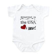 USA Loves Me Infant Bodysuit