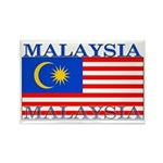 Malaysia Malaysian Flag Rectangle Magnet (100 pack