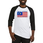 Malaysia Malaysian Flag Baseball Jersey