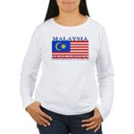 Malaysia Malaysian Flag Women's Long Sleeve T-Shir