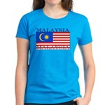 Malaysia Malaysian Flag Women's Dark T-Shirt