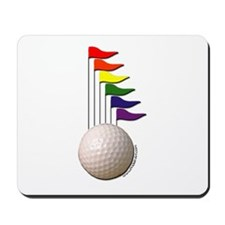 Golf Ball & Rainbow Flags Mousepad