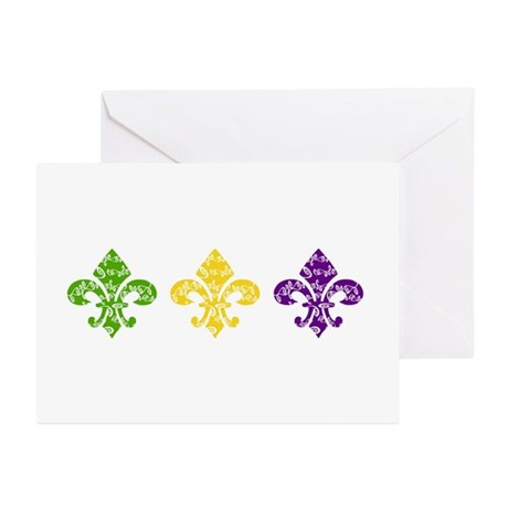 Fleur Mardi Swirl Greeting Cards (Pk of 10)