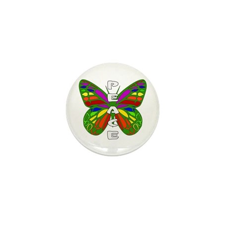 Peace Butterfly Mini Button (10 pack)