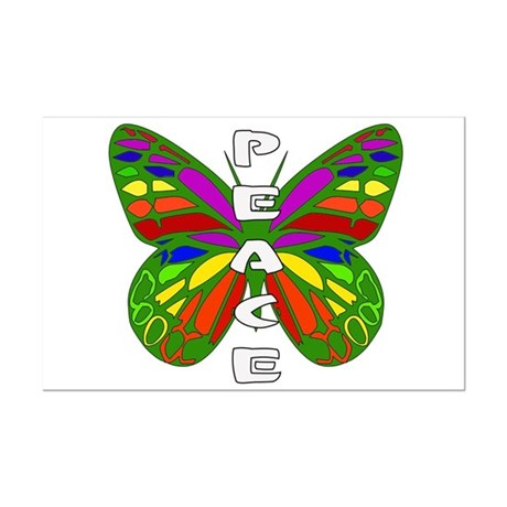 Peace Butterfly Mini Poster Print