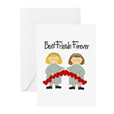 BFF Hearts-Best Friends Greeting Cards (Pk of 10)