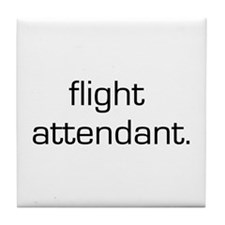 Flight Attendant Tile Coaster