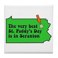 Scranton St Patricks Day Parade Tile Coaster