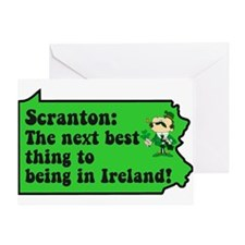 Scranton St Patricks Day Parade Greeting Card