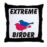 Extreme Birder Throw Pillow