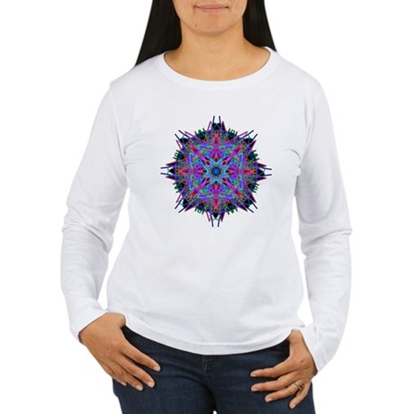 Kaleidoscope 005b2 Women's Long Sleeve T-Shirt