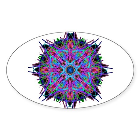 Kaleidoscope 005b2 Oval Sticker