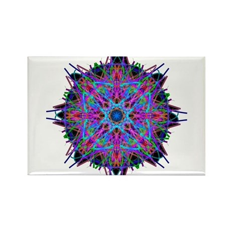 Kaleidoscope 005b2 Rectangle Magnet (10 pack)
