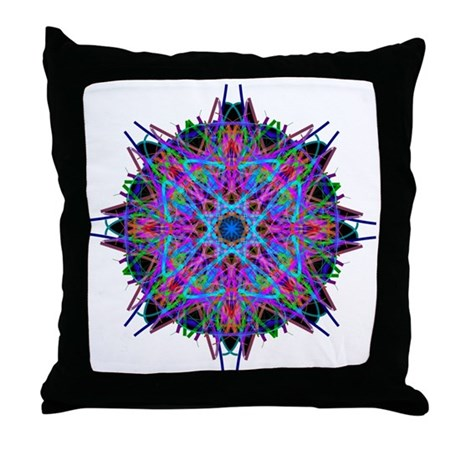Kaleidoscope 005b2 Throw Pillow