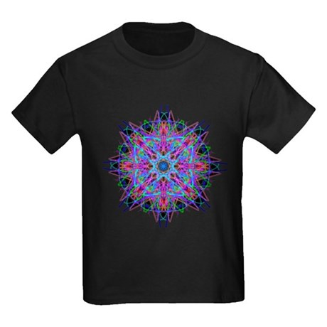 Kaleidoscope 005b2 Kids Dark T-Shirt