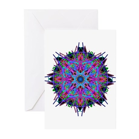 Kaleidoscope 005b2 Greeting Cards (Pk of 10)