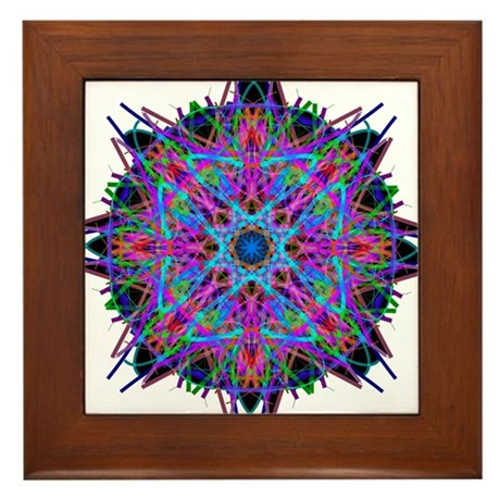 Kaleidoscope 005b2 Framed Tile