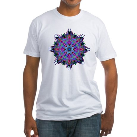 Kaleidoscope 005b2 Fitted T-Shirt