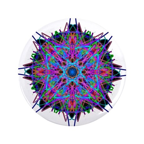 "Kaleidoscope 005b2 3.5"" Button (100 pack)"
