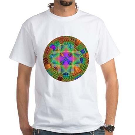 Kaleidoscope 002a White T-Shirt
