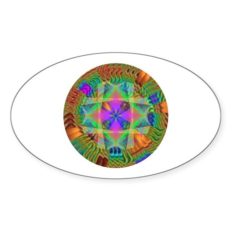 Kaleidoscope 002a Oval Sticker