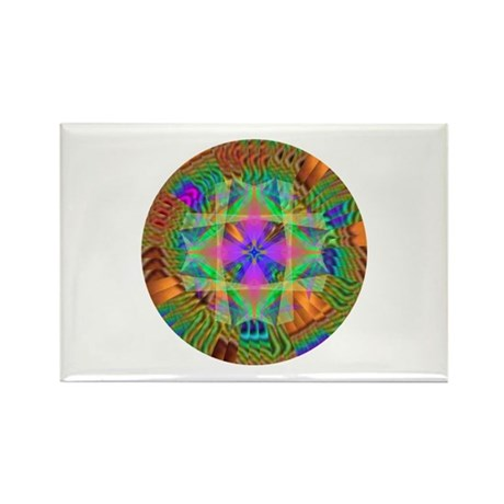 Kaleidoscope 002a Rectangle Magnet (10 pack)
