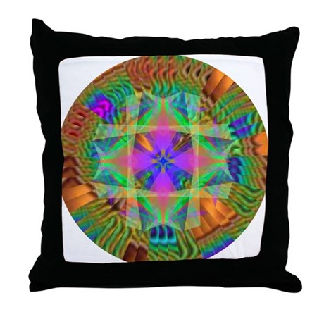 Kaleidoscope 002a Throw Pillow