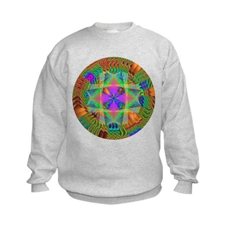 Kaleidoscope 002a Kids Sweatshirt