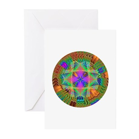 Kaleidoscope 002a Greeting Cards (Pk of 10)