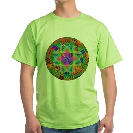 Kaleidoscope 002a Green T-Shirt