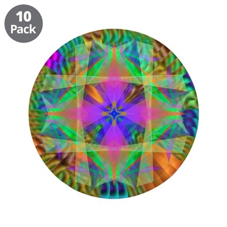 "Kaleidoscope 002a 3.5"" Button (10 pack)"