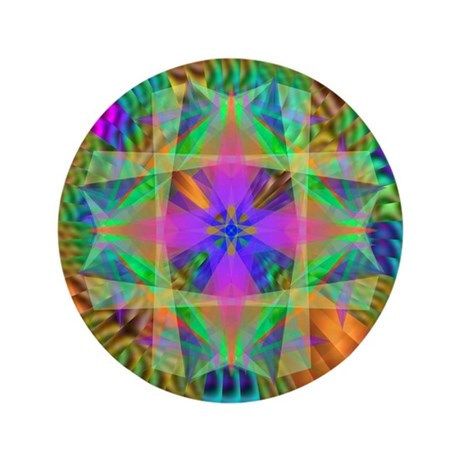 "Kaleidoscope 002a 3.5"" Button"