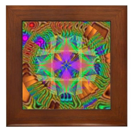 Kaleidoscope 002a Framed Tile