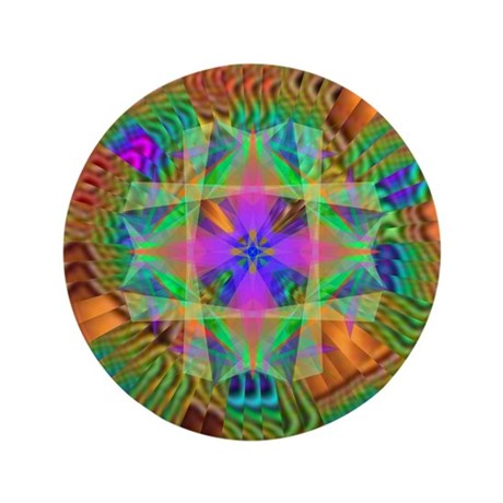 "Kaleidoscope 002a 3.5"" Button (100 pack)"
