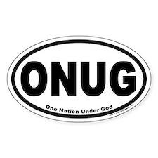One Nation Under God ONUG Oval Decal