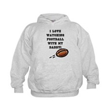 football with dad Hoodie
