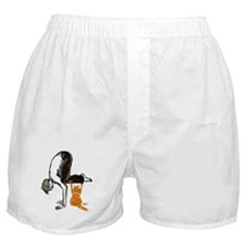 yoga man buddy Boxer Shorts