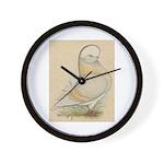 Indigo Tumbler Pigeon Wall Clock