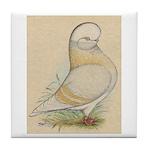 Indigo Tumbler Pigeon Tile Coaster