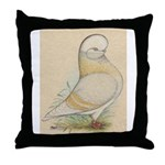 Indigo Tumbler Pigeon Throw Pillow