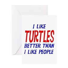I Like Turtles Greeting Card