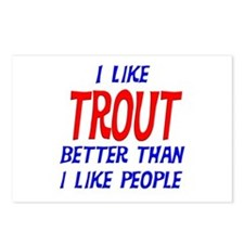 I Like Trout Postcards (Package of 8)