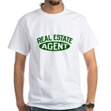 REAL ESTATE AGENT (Green) White Realtor T-Shirt