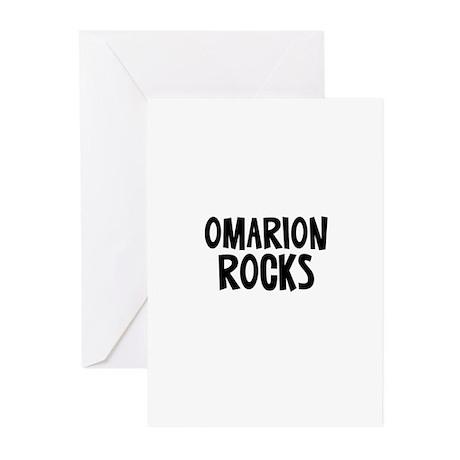 Omarion Rocks Greeting Cards (Pk of 10)